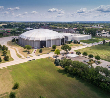 Aerial shot of the DakotaDome.