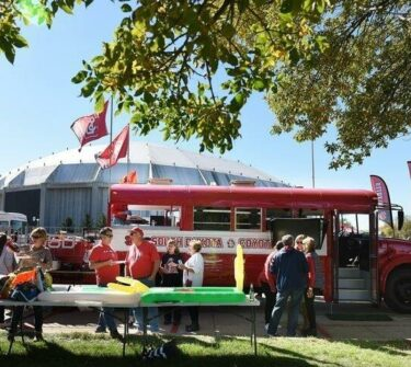 Big Red Bus tailgate